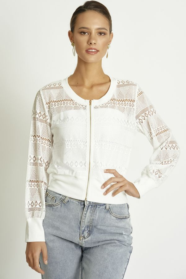 lace zip up jacket  (325366)