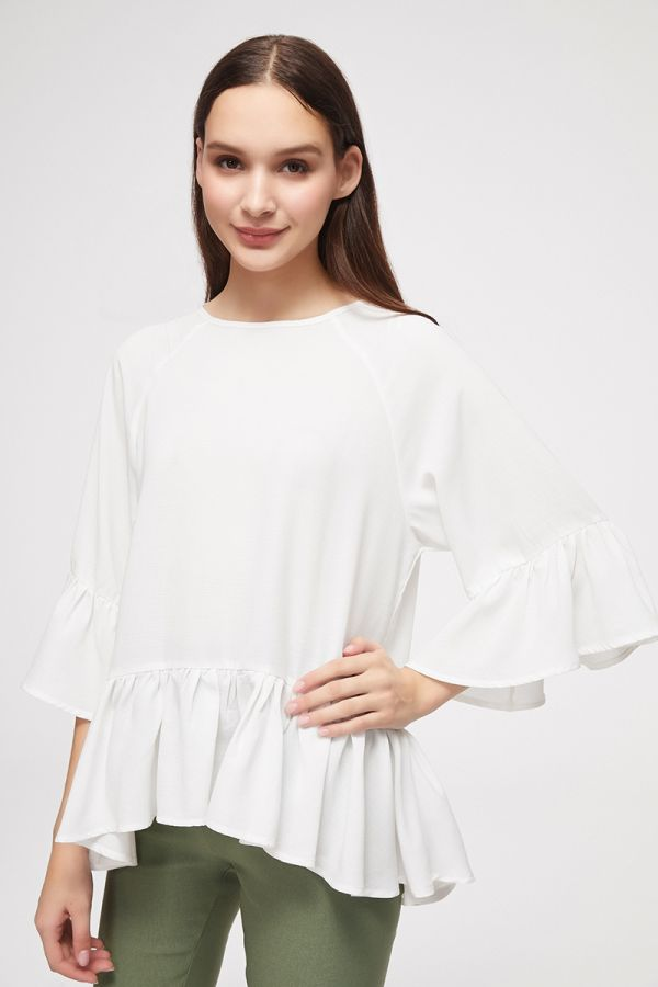 high-low frill top  (325559)