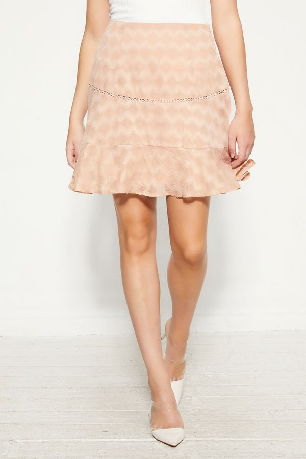 textured flare mini skirt (325605)