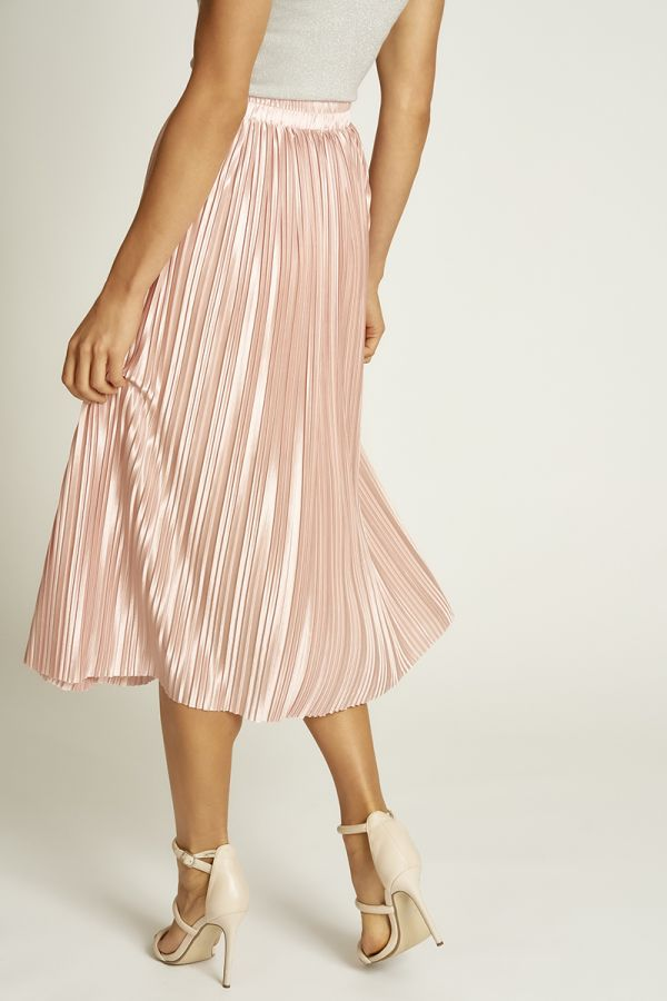 satin pleated skirt (325685)