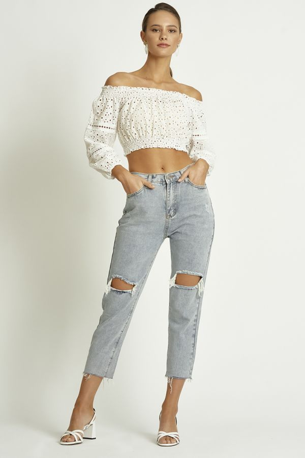 distressed mom jean  (326088)